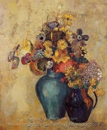Two Vases of Flowers painting reproduction, Odilon Redon