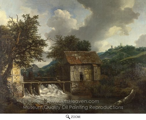 Jacob Van Ruisdael, Two Watermills and an Open Sluice at Singraven oil painting reproduction