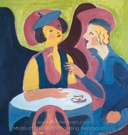 Two Women in a Cafe painting reproduction, Ernst Ludwig Kirchner
