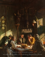 Tyrolese Interior painting reproduction, John Singer Sargent