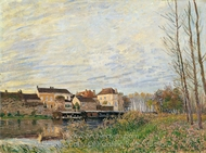 Un Soir a Moret painting reproduction, Alfred Sisley