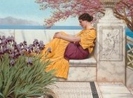 Under the Blossom that Hangs on the Bough painting reproduction, John William Godward