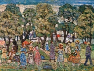 Under the Trees painting reproduction, Maurice Prendergast