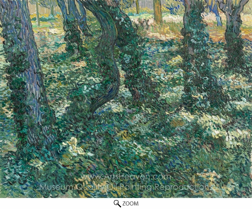 Vincent Van Gogh, Undergrowth oil painting reproduction