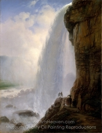 Underneath Niagara Falls painting reproduction, Ferdinand Richardt