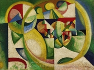 Untitled painting reproduction, Amadeo De Souza-Cardoso