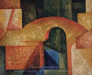 Untitled (Ponte) painting reproduction, Amadeo De Souza-Cardoso