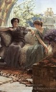 Unwelcome Confidence painting reproduction, Sir Lawrence Alma-Tadema