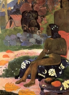Vairumati painting reproduction, Paul Gauguin