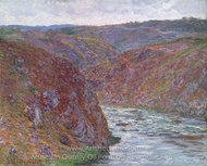Valley of the Creuse (Gray Day) painting reproduction, Claude Monet