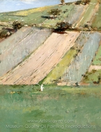 Valley of the Seine, Giverny painting reproduction, Theodore Robinson