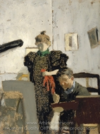 Vallotton chez les Natanson painting reproduction, Edouard Vuillard