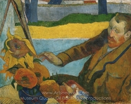 Van Gogh Painting Sunflowers painting reproduction, Paul Gauguin