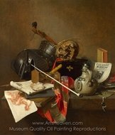 Vanitas Still Life painting reproduction, Jan Jansz. Treck