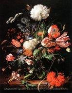 Vase of Flowers painting reproduction, Jan De Heem
