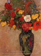 Vase of Flowers painting reproduction, Odilon Redon
