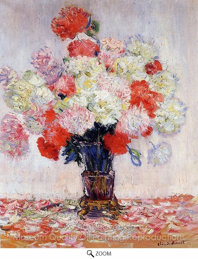 Claude Monet, Vase of Peonies oil painting reproduction