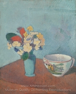 Vase with Flowers and Cup painting reproduction, Emile Bernard