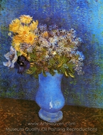 Vase with Lilacs, Daisies and Anemones painting reproduction, Vincent Van Gogh