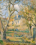 Vegetable Garden painting reproduction, Camille Pissarro