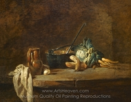 Vegetebles for the Soup painting reproduction, Jean Simeon Chardin