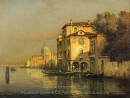 Venetian Caproccio with San Simeone Piccolo in the Distance painting reproduction, Antoine Bouvard