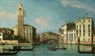 Venice - Entrance to the Cannaregio painting reproduction, Canaletto