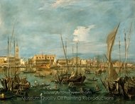 Venice from the Bacino di San Marco painting reproduction, Francesco Guardi