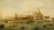 Venice: The Dogana and Santa Maria della Salute painting reproduction, Francesco Guardi