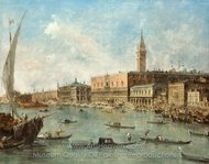 Venice, The Doges Palace and The Molo painting reproduction, Francesco Guardi