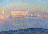 Venice, the Doges Palace Seen from San Giorgio Maggiore painting reproduction, Claude Monet