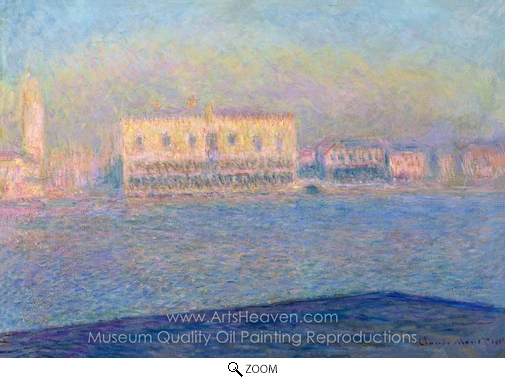 Claude Monet, Venice, the Doges Palace Seen from San Giorgio Maggiore oil painting reproduction