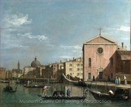 Venice - The Grand Canal facing Santa Croce painting reproduction, Canaletto