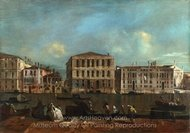 Venice, The Grand Canal with Palazzo Pesaro painting reproduction, Francesco Guardi