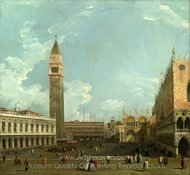 Venice - The Piazzetta from the Molo painting reproduction, Canaletto