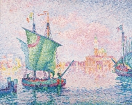 Venice, The Pink Cloud painting reproduction, Paul Signac
