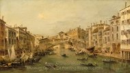 Venice: The Rialto painting reproduction, Francesco Guardi
