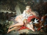 Venus and Amor painting reproduction, Francois Boucher