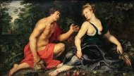 Vertumnus and Pomona painting reproduction, Peter Paul Rubens