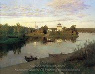 Vesper Chores painting reproduction, Isaak Levitan