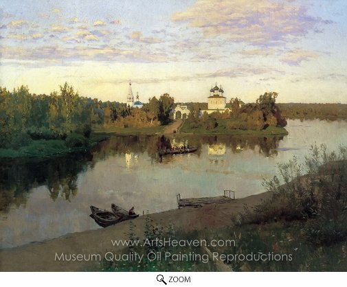 Isaak Levitan, Vesper Chores oil painting reproduction