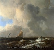 Vessels in a Fresh Breeze painting reproduction, Jacob Van Ruisdael