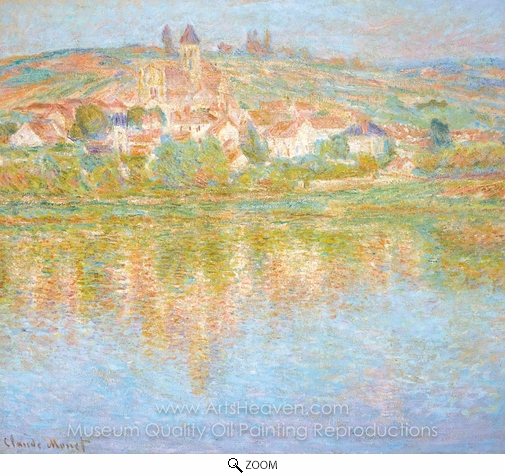 Claude Monet, Vetheuil, at Sunset oil painting reproduction