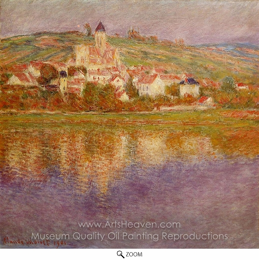Claude Monet, Vetheuil, Effect Rose oil painting reproduction