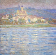 Vetheuil in the Morning painting reproduction, Claude Monet