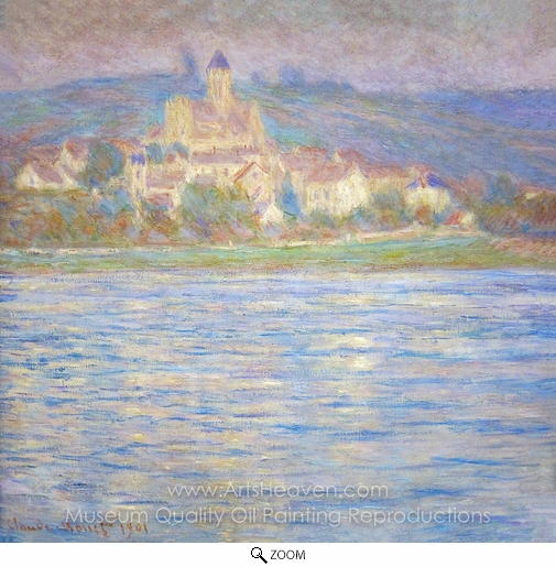 Claude Monet, Vetheuil in the Morning oil painting reproduction