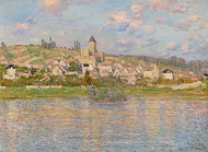 Vetheuil Landscape painting reproduction, Claude Monet