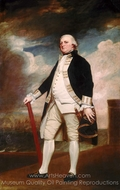 Vice-Admiral George Darby painting reproduction, George Romney