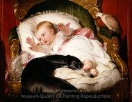 Victoria, Princess Royal, with Eos painting reproduction, Sir Edwin Landseer