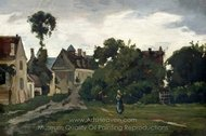 View at Auvers-sur-Oise painting reproduction, Charles Daubigny